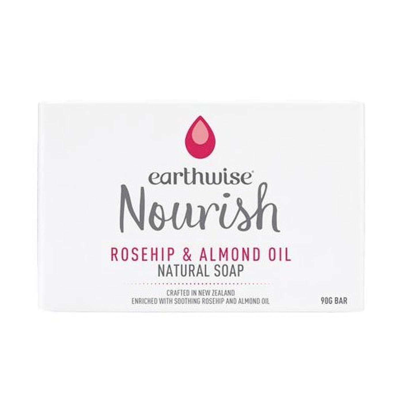 リスナー単位ロータリーearthwise アースワイズ ナチュラルソープ ローズヒップ&アーモンドオイル 石鹸 90g
