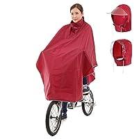 Amagoo (アマグー) お客様の声から生まれたレインアイテム [H2シリーズ] レインポンチョ 自転車用 アップグレードモデル フード2種類セット B4 (ワインレッド/赤)