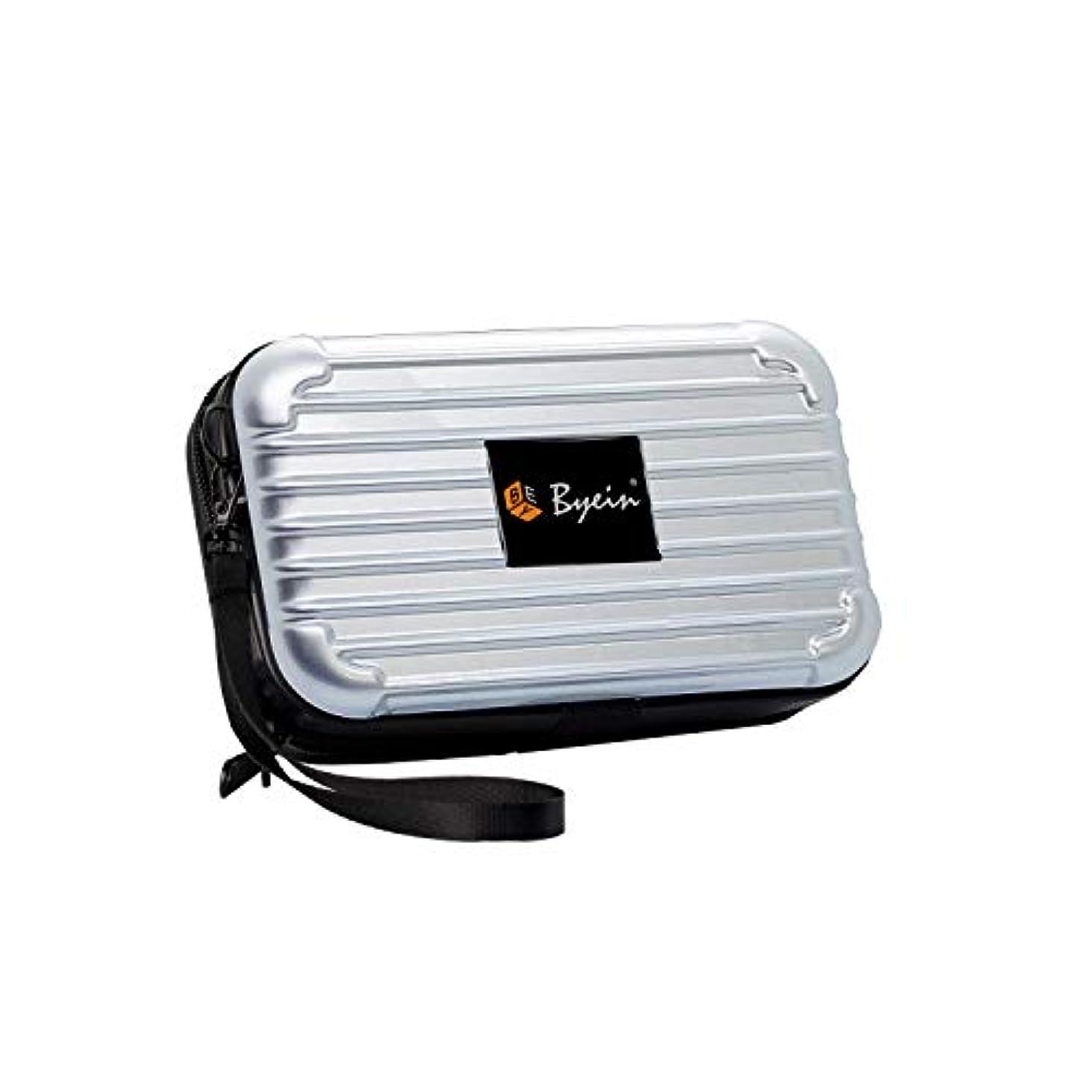 観察する組み合わせ幸運BYEIN 化粧ポーチ 多機能ポーチ 収納バッグ 軽量 旅行 出張 お出かけ 持ち運び便利 スーツケース型