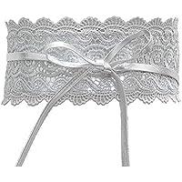 Sanwooden Trendy Waistband Fashion Wide Lace Tie-Up Women Waistband Dress Party Waist Band Belt Sash Decor Waistband