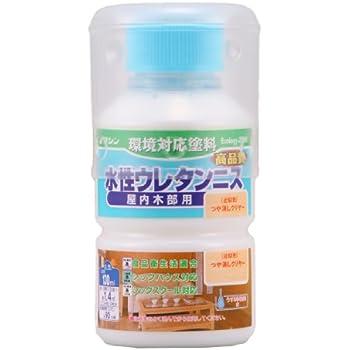 和信ペイント 水性ウレタンニス 屋内木部用 高品質・高耐久・食品衛生法適合 つや消しクリヤー 130ml