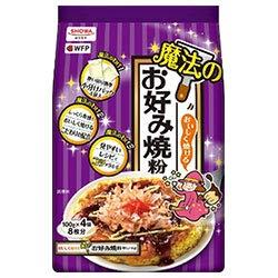 昭和産業 (SHOWA) おいしく焼ける魔法のお好み焼粉 400g(100g×4袋)×6袋入×(2ケース)