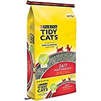 Purina Tidy Cats non-clumping Cat Litter 24/ 7複数の猫のパフォーマンス 30 lb. Bag - 3 pack