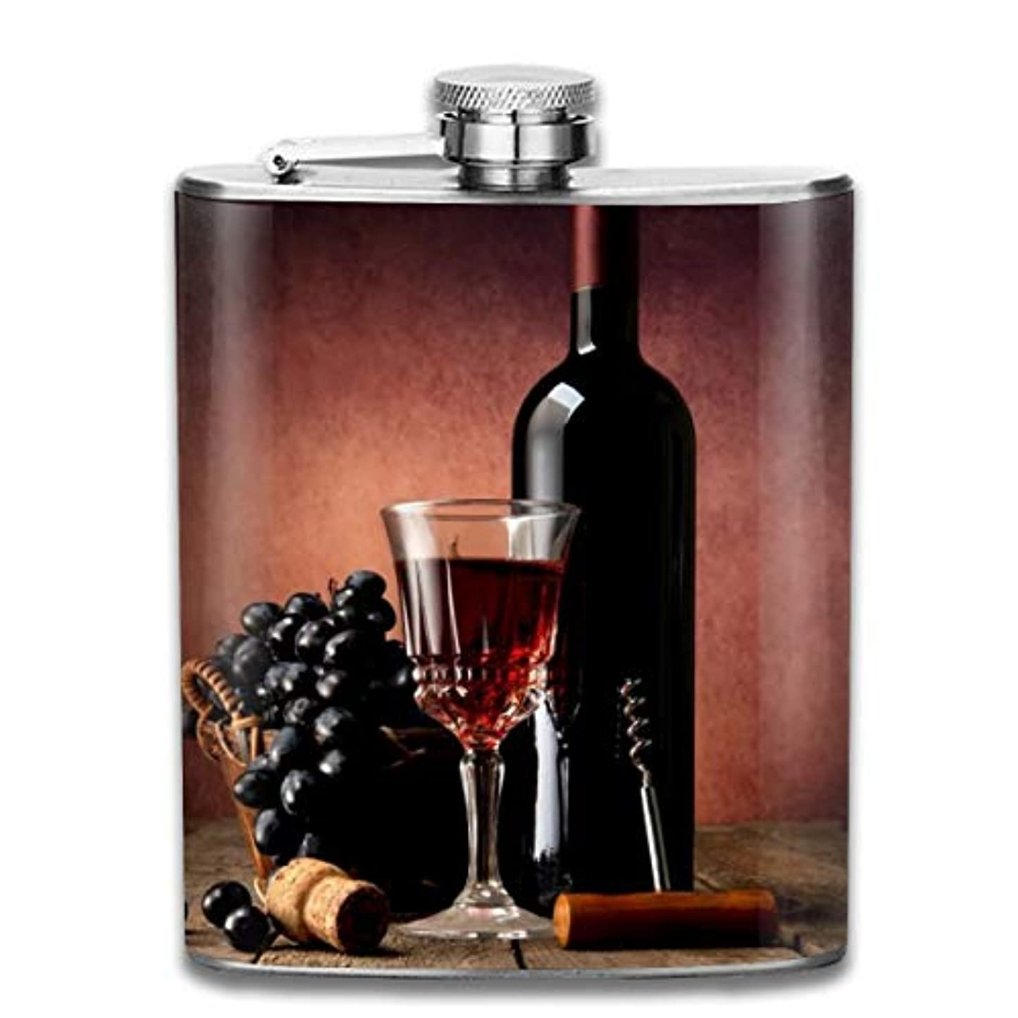 堀省高いブルームン 酒器 酒瓶 お酒 フラスコ 赤ワイン ぶどう ボトル 携帯用 フラゴン ワインポット 7oz 200ml ステンレス製 メンズ U型