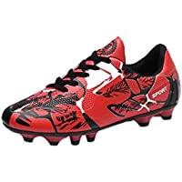 Fulision Boys and Girls' Arch-Support Bottom Breathable Athletic Soccer Shoes
