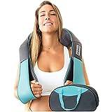 Shiatsu Back shoulder & Neck Massager With Heat - Deep Tissue 3D Kneading Pillow Massager for Neck, Back, Shoulders, Foot, Le
