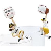 コップのフチ子 野球 ボールのフチ子 福岡ソフトバンクホークスver