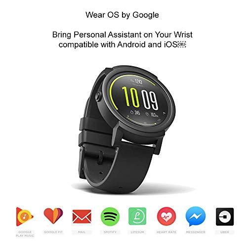 89f658d9a5 中古)Ticwatch E超軽量スマートウォッチShadow アンドロイド・ウエア2.0搭载iOS