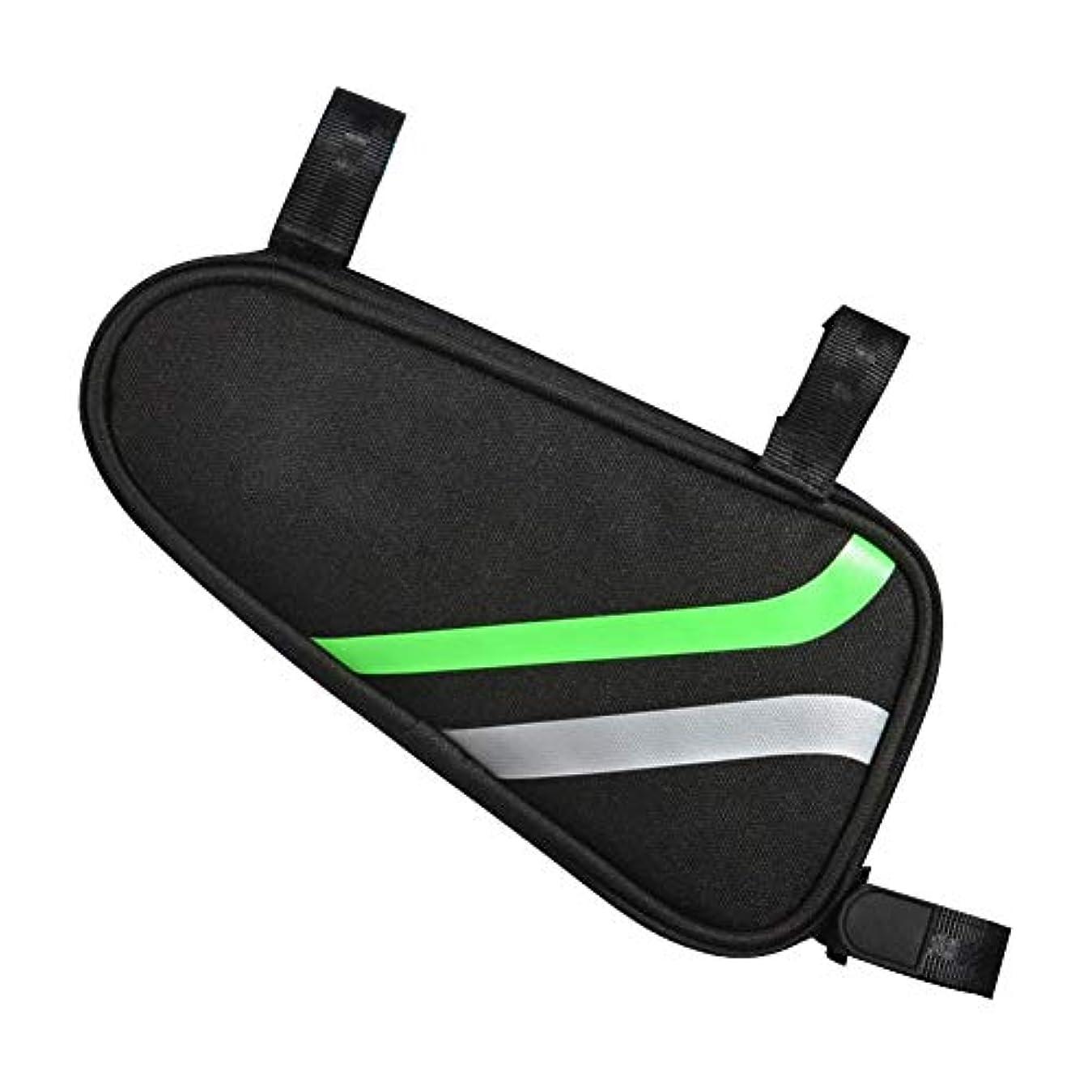 無関心混乱した矢自転車用サドルバッグ トップチューブバッグ 三角バッグ フロントバッグ 3点固定のマジックテープ 良質の生地 耐摩耗性 二重線カラーマッチングストリップ シンプル ファッション