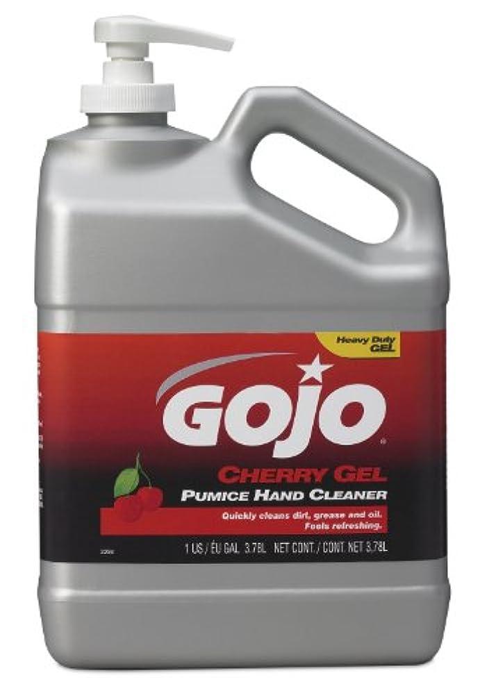 妻傑出したそよ風GOJO 2358 – 02チェリージェル軽石ハンドクリーナーポンプボトル – 1ガロン、( Pack of 2 )