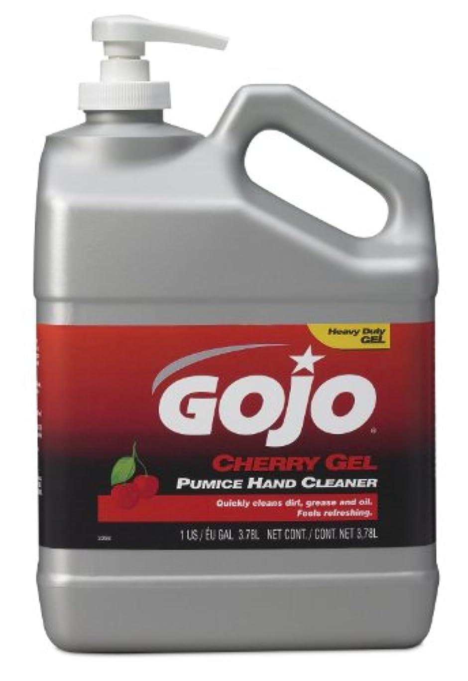 GOJO 2358 – 02チェリージェル軽石ハンドクリーナーポンプボトル – 1ガロン、( Pack of 2 )