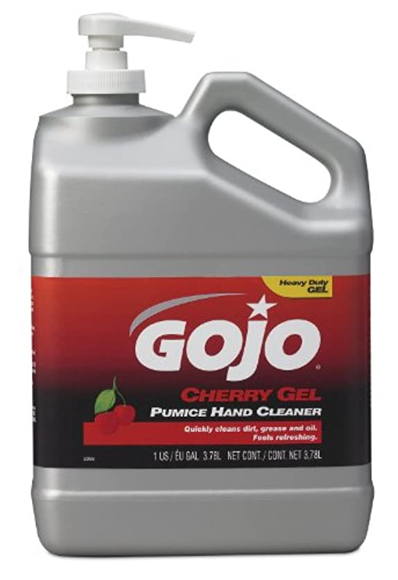 とらえどころのない飢ナビゲーションGojo 2358-02 チェリーゲル軽石ハンドクリーナーポンプボトル 1ガロン (2個パック)