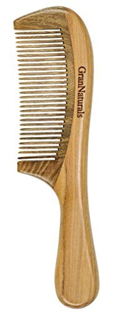 支払いそれによって密接にGranNaturals Sandalwood Hair & Beard Comb for Men & Women [並行輸入品]