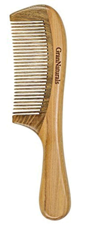 メダルスキニー人間GranNaturals Sandalwood Hair & Beard Comb for Men & Women [並行輸入品]