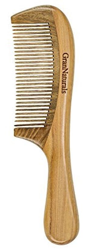 上下する意気込み葉GranNaturals Sandalwood Hair & Beard Comb for Men & Women [並行輸入品]