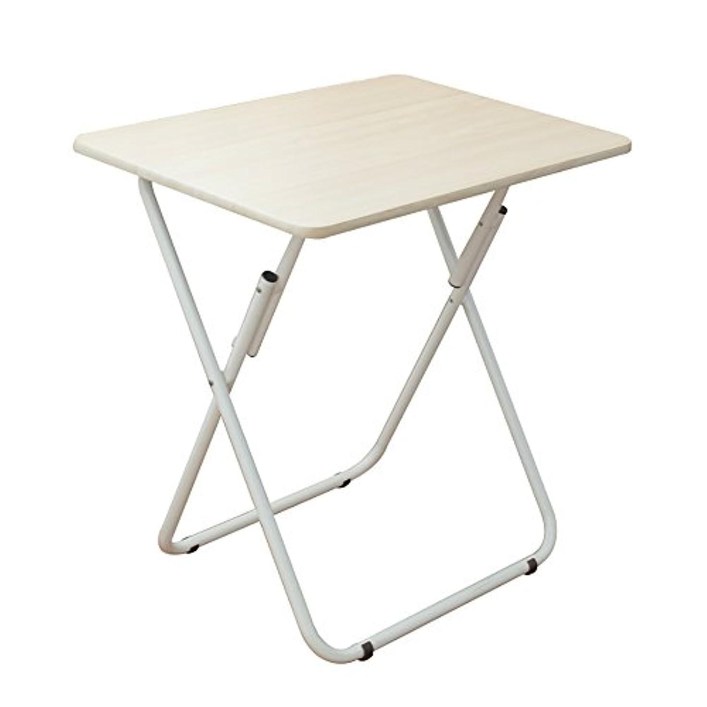 公平勝利した賢いLJHA zhuozi 折り畳みテーブル/正方形テーブル/折りたたみブックデスク/便利なスタイルの食事テーブル/コンピュータデスク/ホーム多目的装飾テーブル (色 : A)