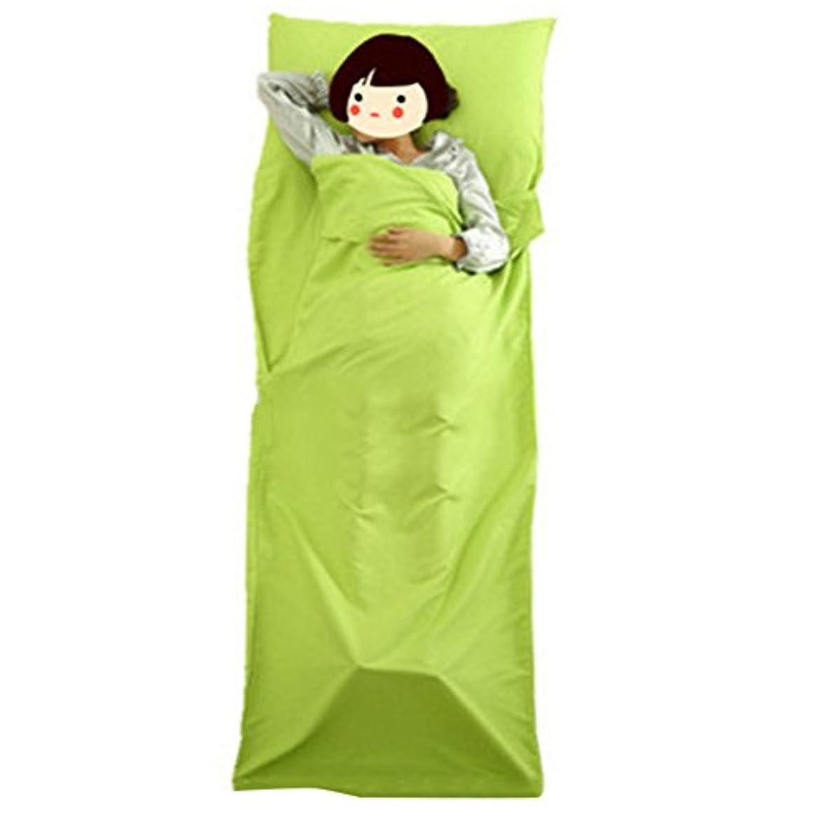 メンダシティデイジー入浴LIOOBO Envelop 寝袋 防水 軽量 ポータブル 寝袋 キャンプ ハイキング 旅行 バックパッキング 75 x 210cm (グリーン)