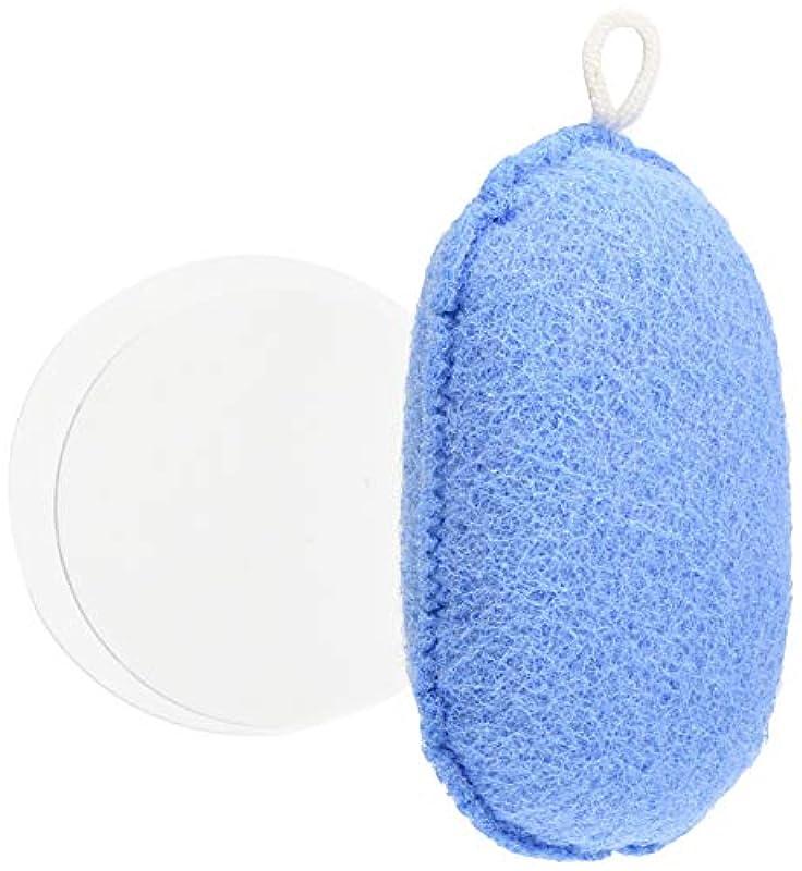 オーエ ボディスポンジ ブルー 約縦14.5×横9.5×奥行5cm nf ヘチマボール 体洗い 泡立ち