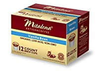 Mitalena Vanilla Bean Organic Arabica Low Acid Coffee 72 ct K-cup (6 packs of 12 ct)