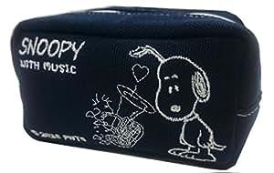 SNOOPY with Music スヌーピー マウスピースポーチ 限定品《ネイビー X ホワイト》 (チューバ)