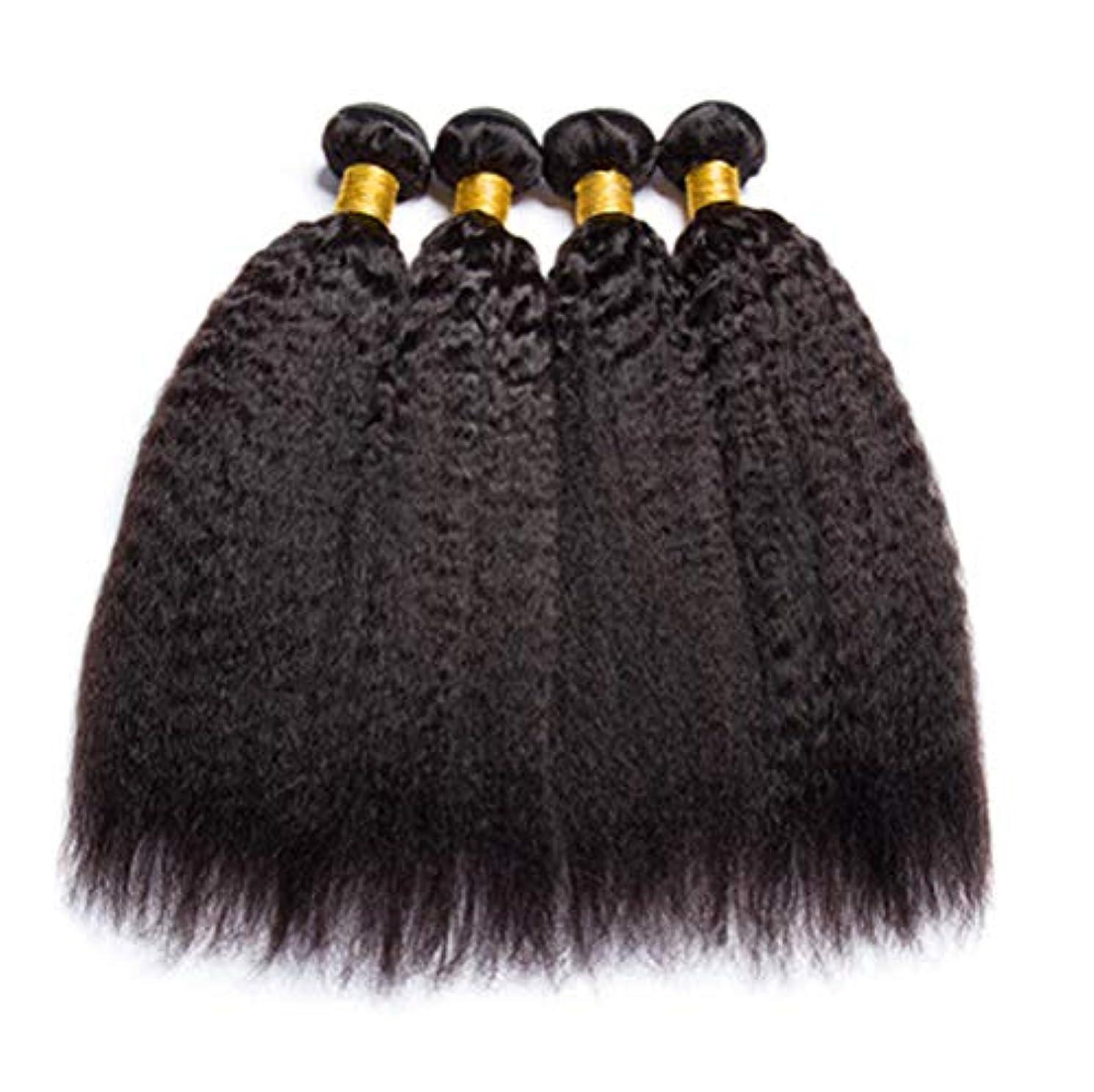 すでにメタルラインレビュー髪織り女性150%密度ブラジル髪バンドル人間の髪バンドルストレートヘア1バンドル非レミー髪