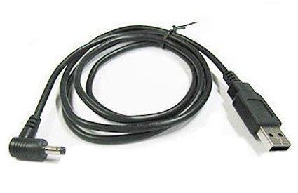 カモン 【(COMON)製】USB(A)←→DCジャック(直角/外径:4.0φ/内径:1.7φ)/黒...