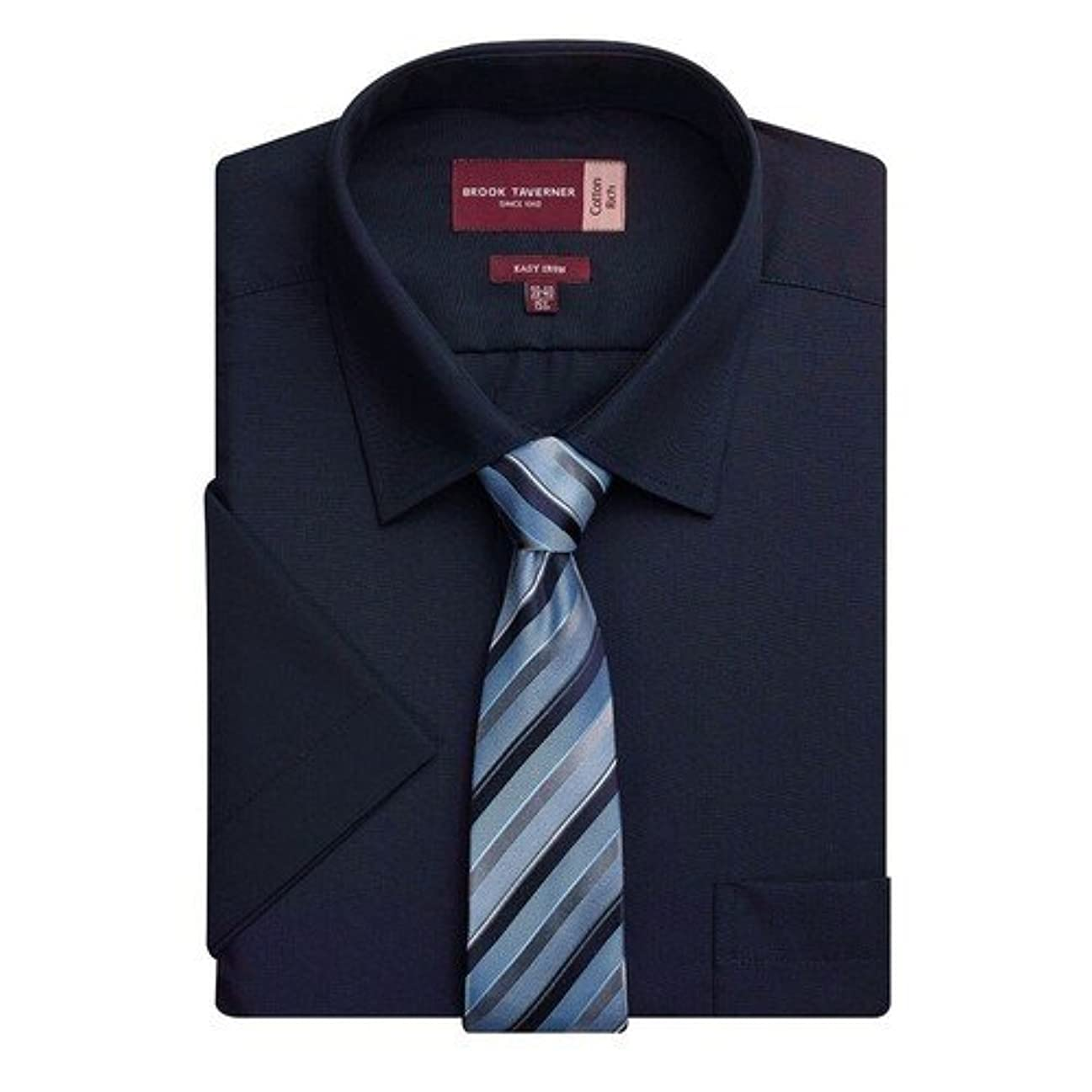 化学者乱気流トラクターBrook Tavernerスマートファッションロゼッロ半袖シャツワイシャツトップス男性用