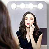 Portable LED Vanity Mirror Lights, 2000mAH Rechargeable Makeup Mirror Lights with 4 LED Bulbs,Simulated Daylight for Bathroom Makeup Dressing Table Lights,Kitchen Lights,Wardrobe Lights