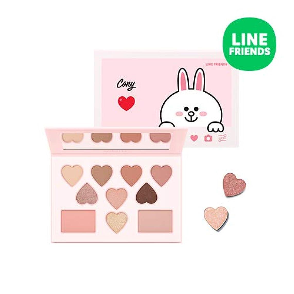 ミシャ[ラインフレンズエディション] カラー フィルター シャドウ パレット MISSHA [Line Friends Edition] Color Filter Shadow Palette #6. Cony [並行輸入品]