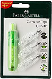 Faber-Castell GW169363R QJR-506 Correction Tape with 3 Refill, 24m x 5mm, Green