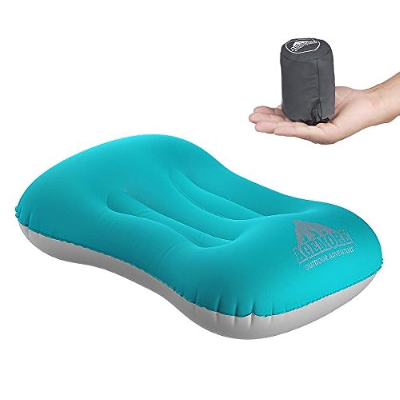 実現可能ビルマゴルフエアーピロー 旅行用枕 キャンプアウトドア 防水 超軽量 携帯便利 コンパクト インフレータブルピロ トラベルピロー マイピロー 携帯用 クッション ピロー 枕 収納袋付き