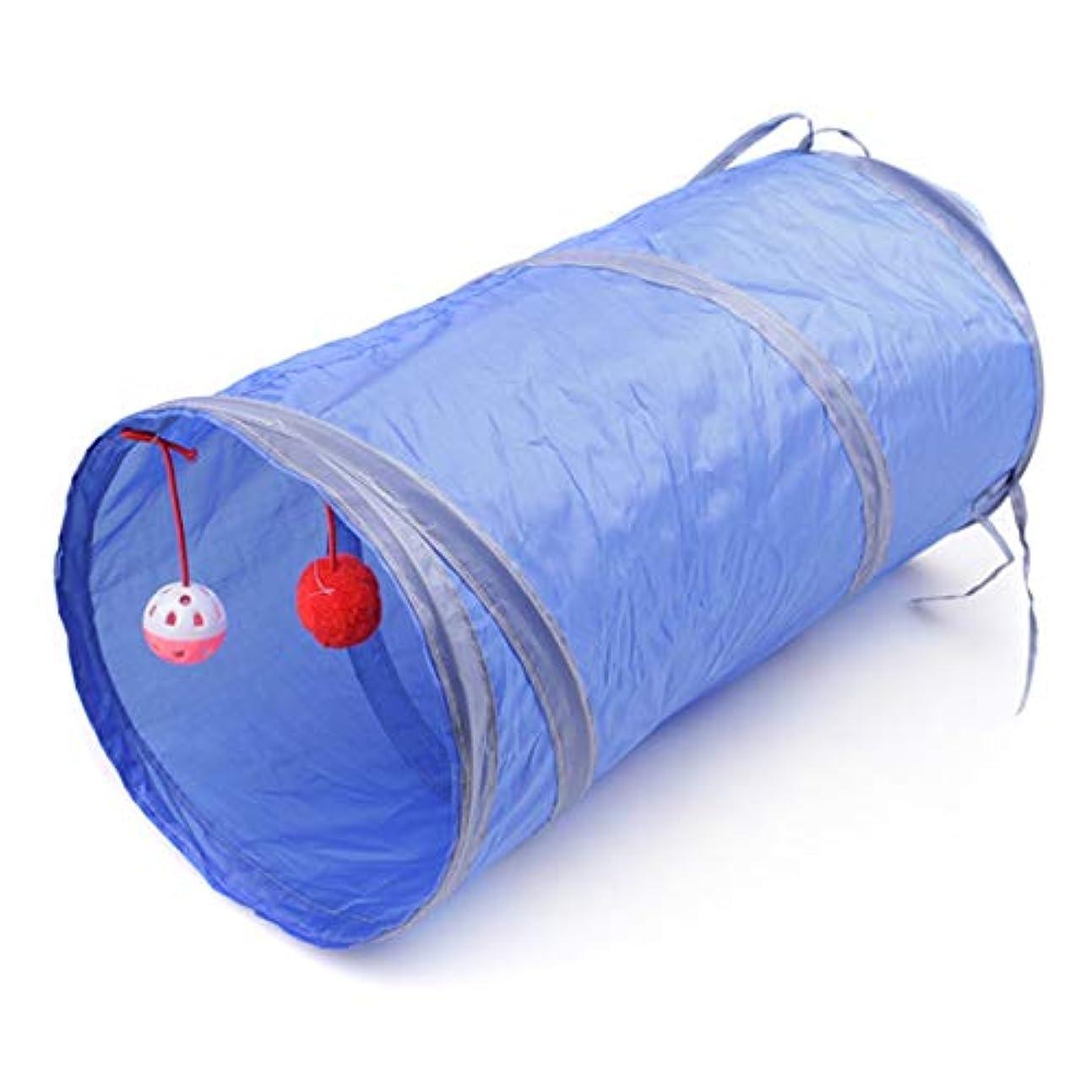 活性化するを通して隔離Tivollyff 折りたたみペット犬猫トンネル玩具屋内屋外ホームポリエステル折りたたみトレーニングトンネルペットアクセサリーペット用品