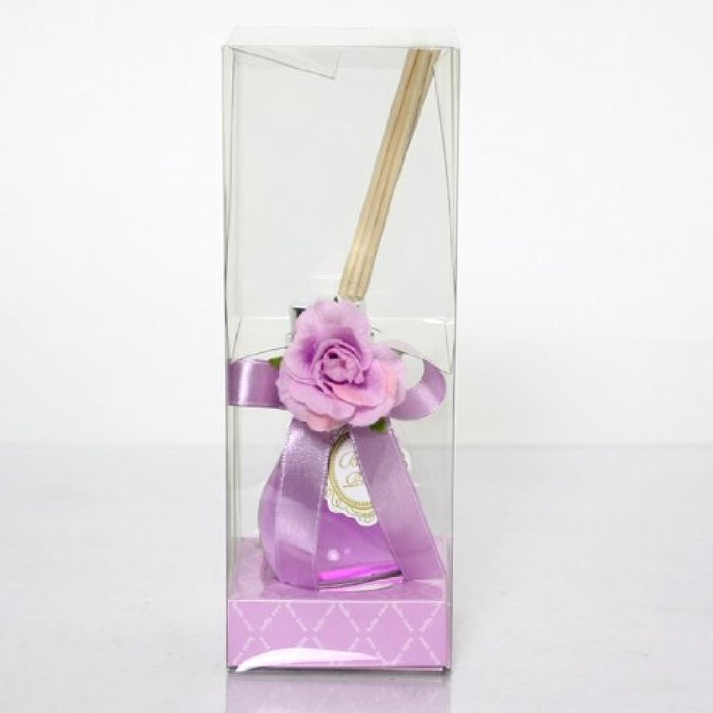 怖がらせるポーチ再生sweets candle(スイーツキャンドル) ベルローズルームフレグランス【パープル】(pe3110500pu)