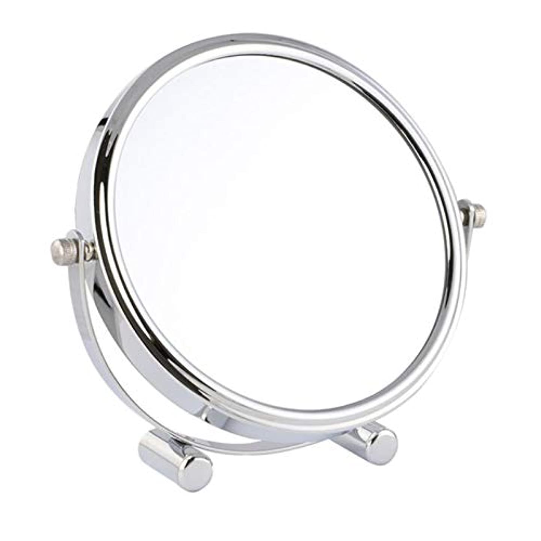 潜水艦パールメンバー化粧鏡 女優ミラー けメイクミラー スタンドミラー 卓上鏡 化粧道具 両面鏡 片面2倍 拡大鏡 360度回転 鏡面直径17cm