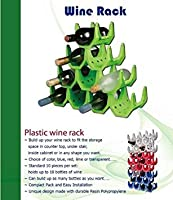 Wine Rack - (Transparent White) Up to 10 Bottles use as many as needed. by Rishon Racks