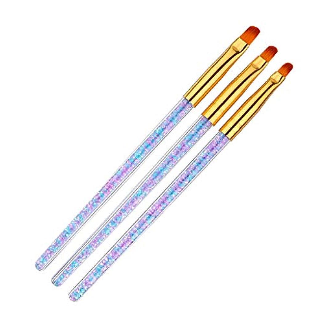 かけがえのない静けさ配送CUTICATE ネールアートペン ネールブラシセット マニキュアツールキット 3本セット ネイル用品