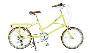 alohaloco(アロハロコ) オリジナル自転車(20インチ) HALEIWA(ハレイワ) シマノ製7段変速ギヤ サイズフリー(380mm) 適応身長140cm〜 HALEIWA イエロー
