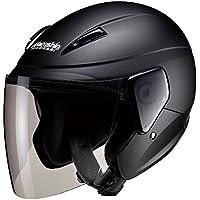 マルシン(MARUSHIN) バイクヘルメット セミジェット M-520 マットブラック フリーサイズ(57-60cm未満) M520