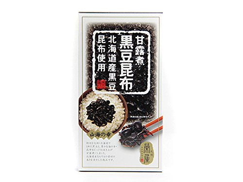 甘露煮黒豆昆布(180g)北海道産黒豆と昆布使用。北海道の大地と、豊かな海が育てた美味しい素材を甘露煮にしました。ご飯のおかず、お酒の肴に。