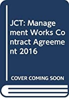 JCT: Management Works Contract Agreement 2016