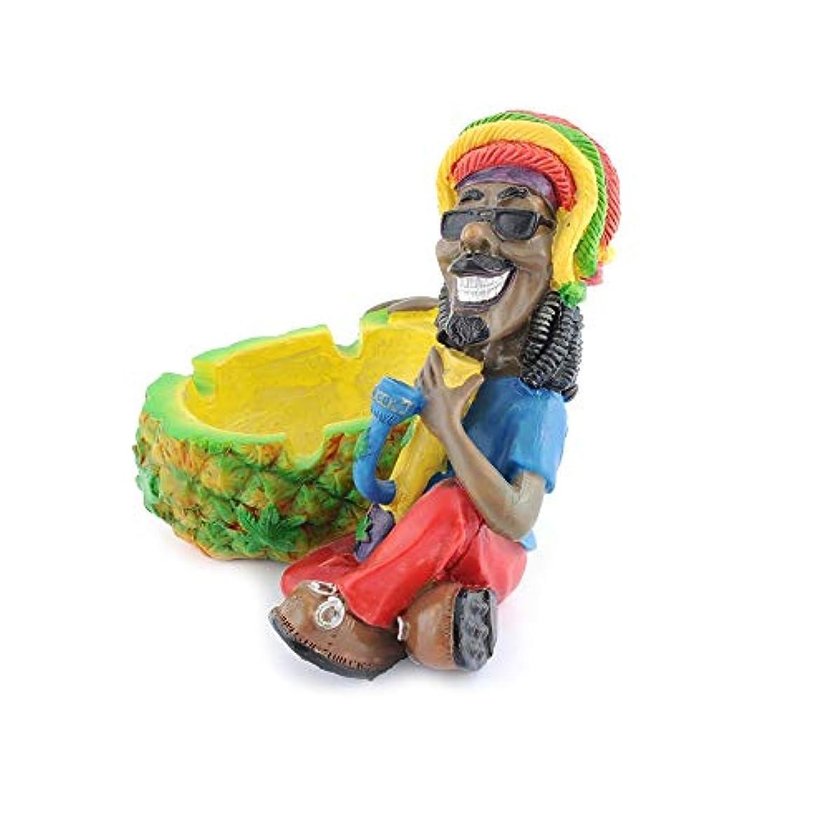 刻むフルート困難クリエイティブ樹脂製灰皿ジャマイカ型灰皿ホームデコレーション