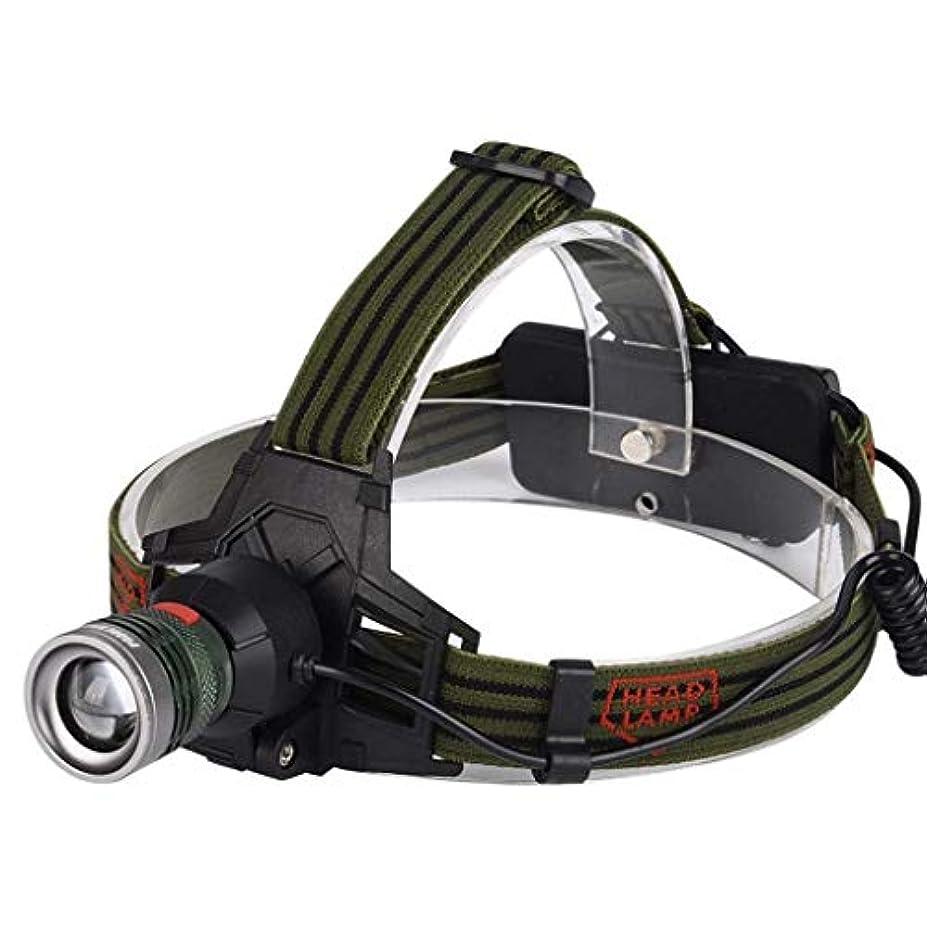 急いで遺跡通りアルミ合金強いヘッドライト屋外ハイキングキャンプヘッドライトT6スーパーブライトグレアUSB充電式ヘッドマウント懐中電灯