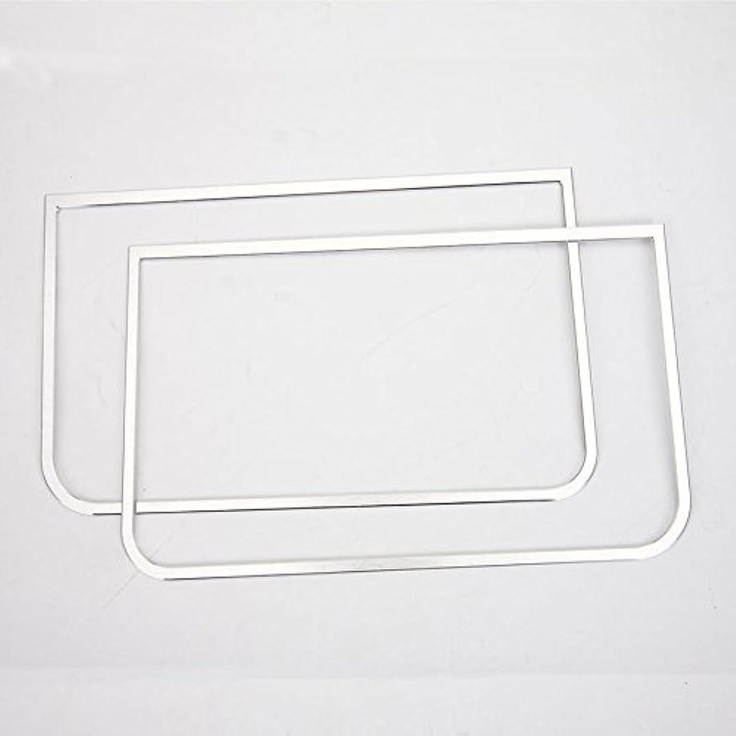 求人水星パンダJicorzo - Car Styling Dashboard Sound Speaker Cover Trim Interior Decor Frame Molding Chrome ABS Sticker For Jeep Wrangler JK 2011-2016 [Silver]