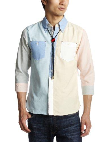 ループタイ付きオックス7分袖BDシャツ 2717104 スリッピン・アンド・スライディン