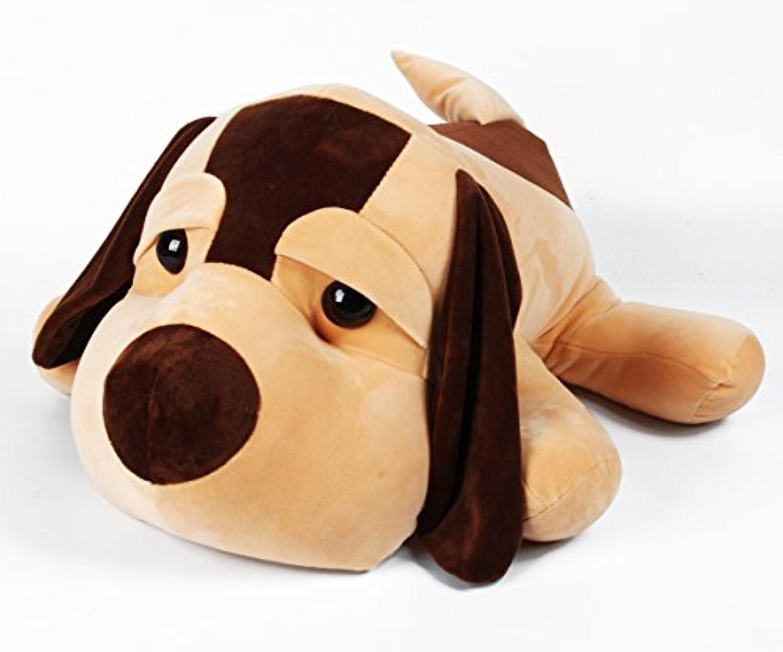 IKASA とろけるような肌触り プレミアム ぬいぐるみ 犬 抱き枕 Lサイズ ホワイト 55cm