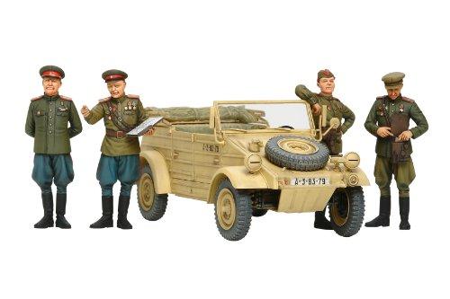 スケール限定シリーズ ソビエト軍指揮官・スタッフカーセット (人形4体付き) 25153