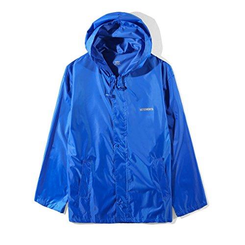 Vetements ヴェトモン レインコート メンズ 薄手 軽量 ブルー 撥水 オーバーサイズ フリーサイズ 18SS PVC Raincoat Long