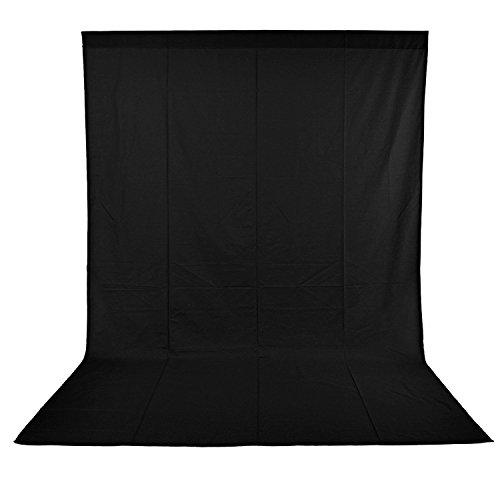 NEEWER 10 x 20FT / 3 x 6M 100%モスリン 写真撮影、ビデオ撮影用背景布/背景シート(ブラック) 【並行輸入品】
