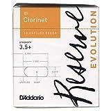 D'Addario リード レゼルヴ エヴォリューション B♭クラリネット 強度:3.5+(10枚入) アンファイルドカット DCE10355