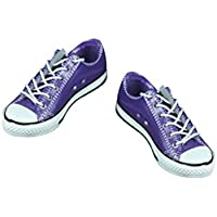 Baosity ガール 女性 人形用 1/6スケール レースアップ 低ヒール キャンバスシューズ 美しい 靴 スニーカー 12インチフィギュア用 アクセサリー - 紫